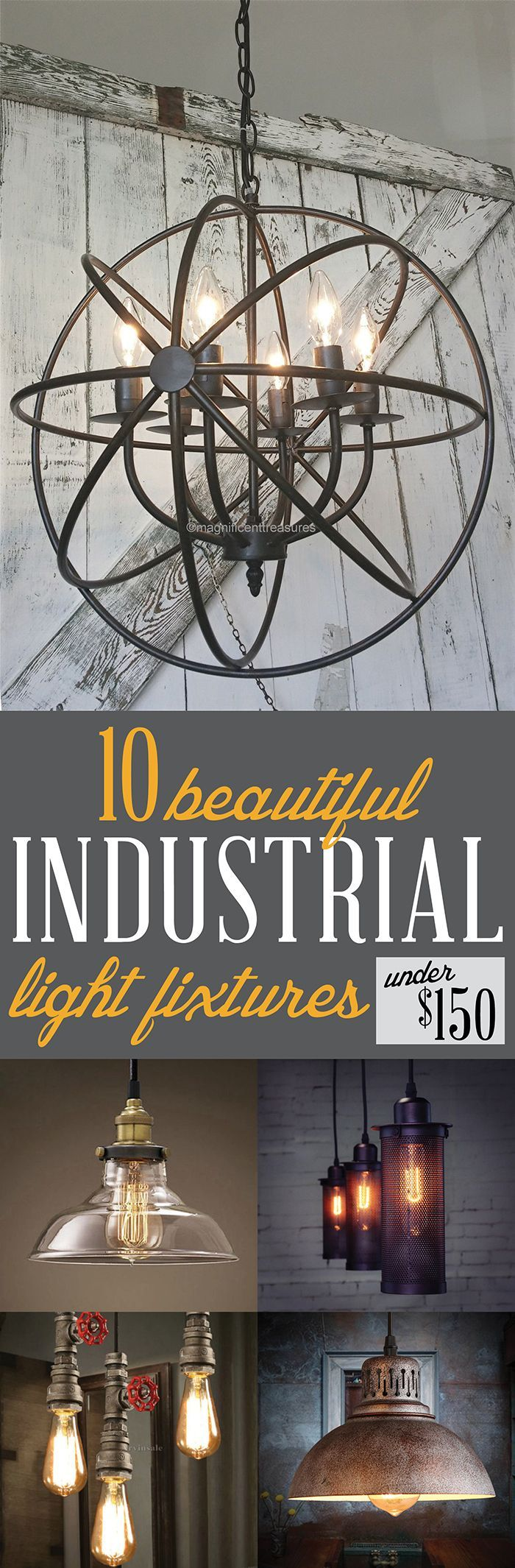 Industrial Light Fixtures Under 150