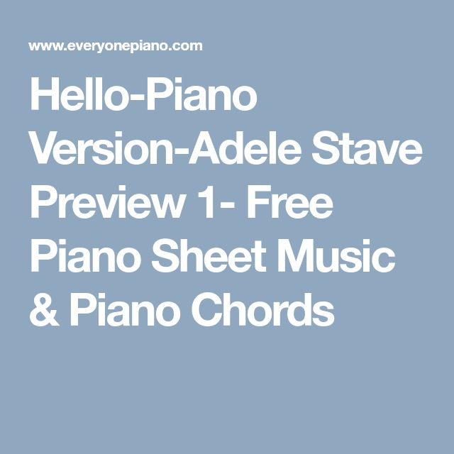 Best 25+ Free Piano Sheets Ideas On Pinterest
