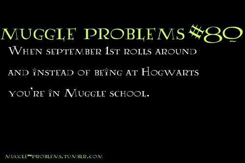 Muggle Problems--Every September 1st, at 11am, I take a moment, close my eyes, and step on the Hogwarts Express