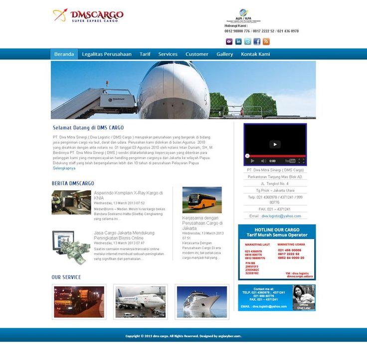 Proyek PSD to Joomla - DMS Cargo. dmscargo.com