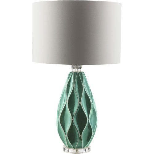 Bethany Teal One Light Table Lamp Surya Accent Lamp Table Lamps Lamps