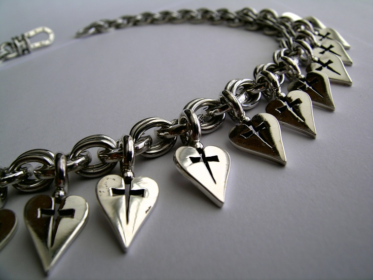 Sterling silver 'Insignia' necklace designed by Giovanni D'ercole of Love and Hatred