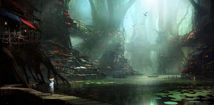 Dzalou freshwater mangrove - Concept art, Digital paintingsCoolvibe – Digital Art