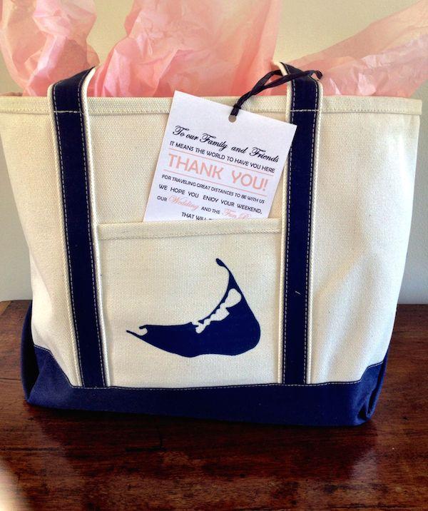 Nantucket wedding welcome bags