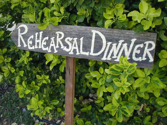 A Rehearsal Dinner Checklist
