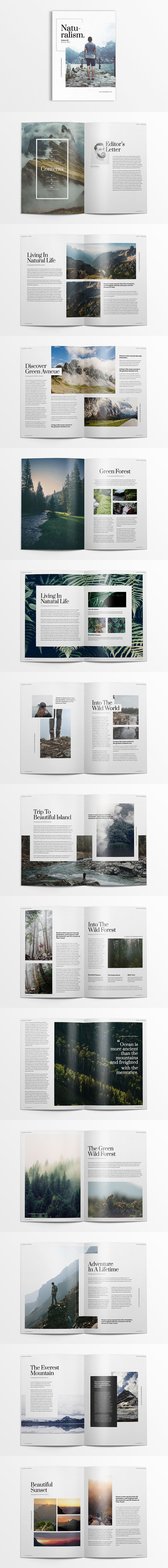 Creative and Minimalist Magazine Template Adobe InDesign INDD