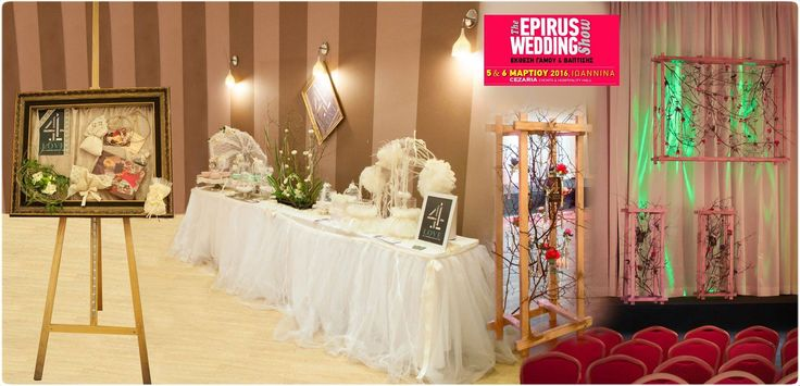 EPIRUS WEDDING SHOW - Welcome έκθεσης & Στολισμός πασαρέλας - Floral Artist Ντίνος Μαβίδης & Concept Stylist Μάνθα Μάντζιου