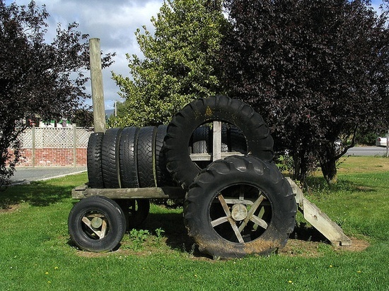 Tire Tractor, ha ha so cute