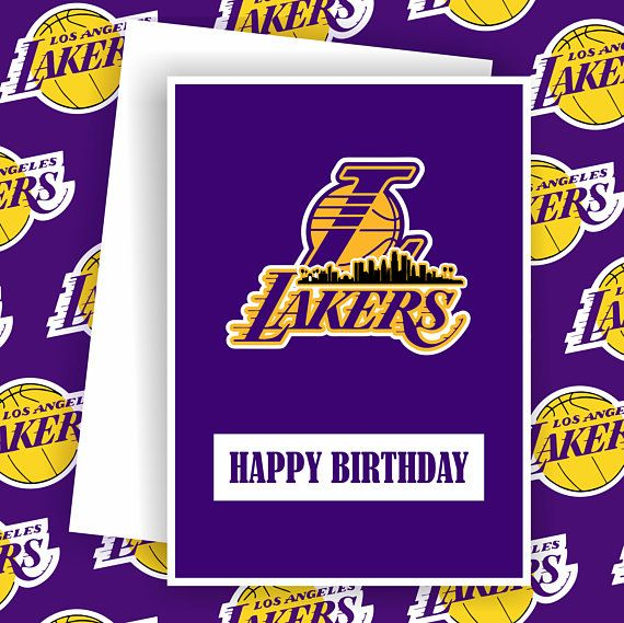 Lakers Los Angeles Lakers Fan Basketball Team Card Basketball Greeting Card Unique Cards Cards Love And Basketball