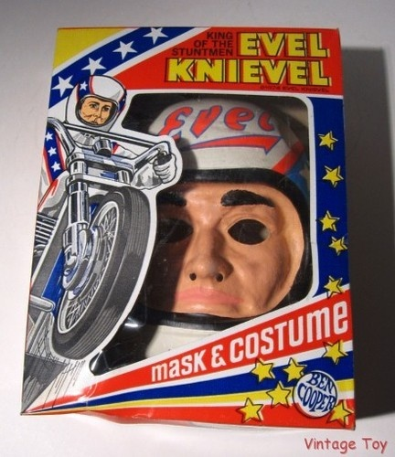 ~ Vintage Evel Knievel Halloween Costume + Mask in Box ...