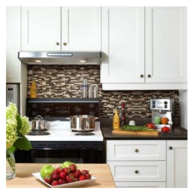Home Depot peel and stick tile backsplash