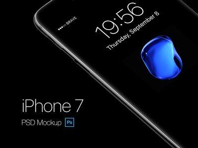 Free Apple iPhone7 Jet Black Mockup PSD (6 MB) | By Gustav Agren on Dribbble…