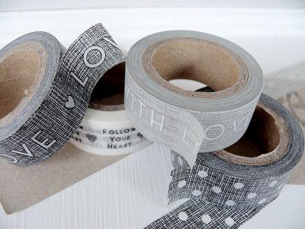 Cute!: Diy Ideas, Diy Things, Grey Gray, Branding Packaging, Washi Gray, Masks Tape, Washi Tape, Colors Sweet, Fun Tape