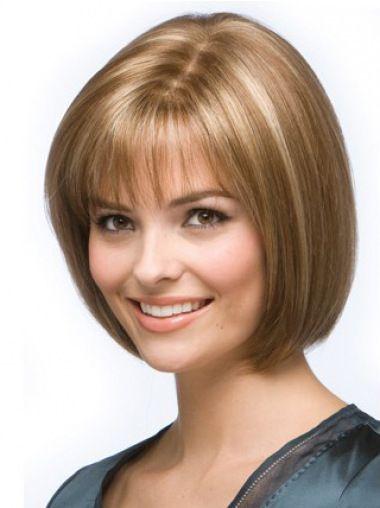 SKU:HW01108; Material:Remy Human Hair; Cap Construction:Capless; Cap Construction:Capless; Length:Chin Length; Hair Style:Straight;