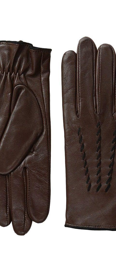 LAUREN Ralph Lauren Whip Stitch Points Thinsulate Gloves (Coffee/Black) Dress Gloves - LAUREN Ralph Lauren, Whip Stitch Points Thinsulate Gloves, 410326-203, Accessories Gloves Dress, Dress, Gloves, Accessories, Gift, - Street Fashion And Style Ideas