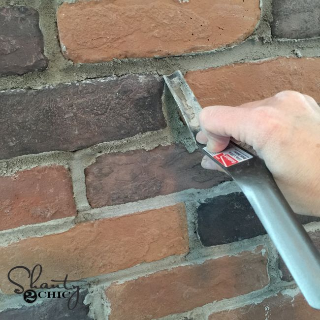 Diy Thin Brick Wall With Images Thin Brick Diy Brick Wall