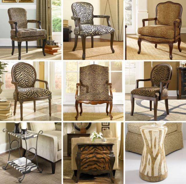 Print cupcakes and cheetahs animal print chairs living room zab