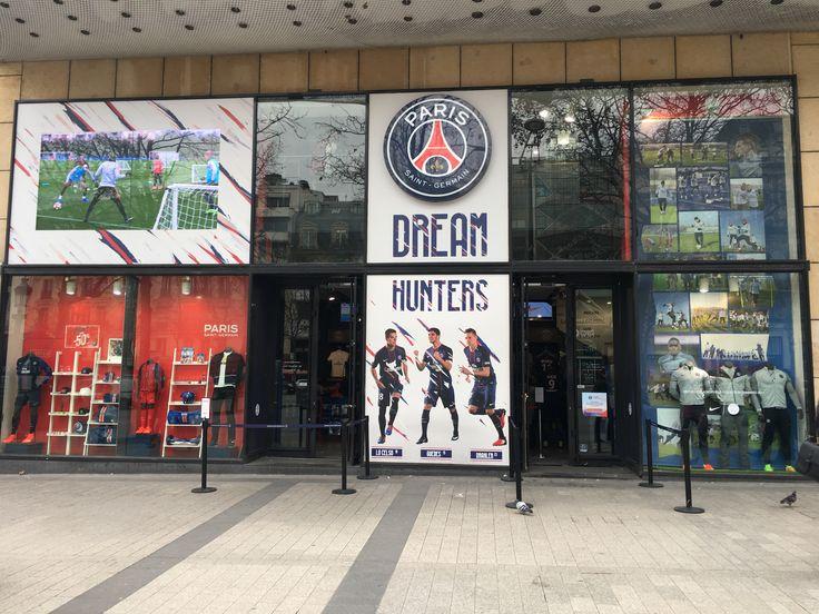 New Champs Elysées' window shop