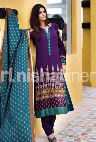 Nishat Winter Collection 2013 | Nishat Linen Winter Collection 2013-2014 - Life with Style