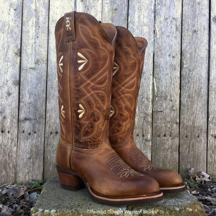 Tony Lama Women's 3R Tan Hidalgo Leather Med Round Toe Western Boot 3R2305L