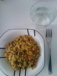 Che Birba: Riso integrale saltato al curry con verdure