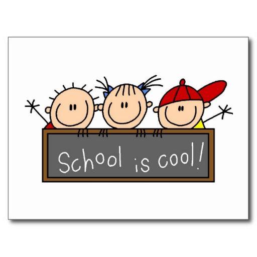School is Cool Postcard | Zazzle.com | Education Theme ...