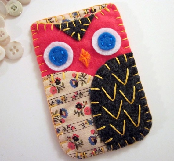 Oh my I need this! Felt Owl Phone Case@Jessica Mendoza: Iphone Cases, Case Ally, Case Jessica Mendoza, Felt Crafts, Gift Ideas, Felt Owls, Phone Case Jessica, Owl Phone Cases, Craft Ideas