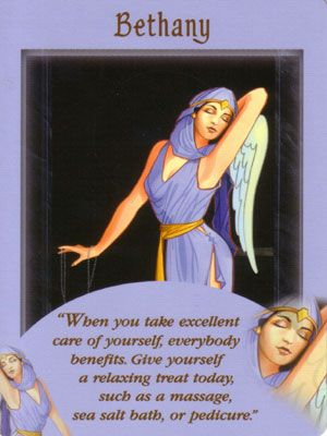 """This card is from the """"Messages from Your Angels"""" Oracle Card Deck by Doreen Virtue. This card usually means you…"""