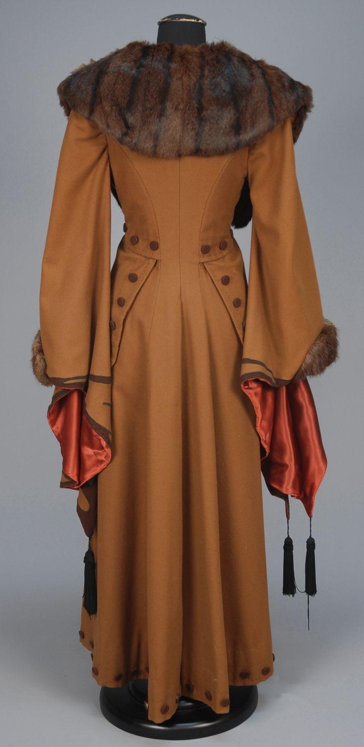 ephemeral-elegance: Wing Sleeved Wool Coat with Fur Trim, ca. 1910-20via Whitaker Auctions