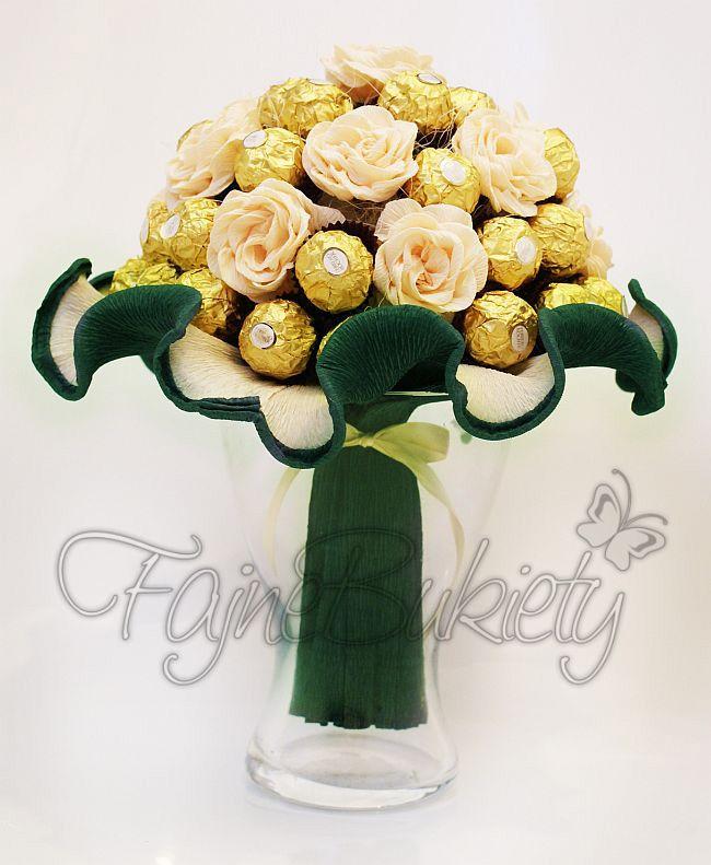 Bukiet z 36 cukierków czekoladek Ferrero Rocher