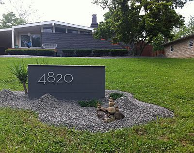 Mid Century Modern Atomic Indy: Mid Century Modern House Numbers. Neutra inspired, custom made.