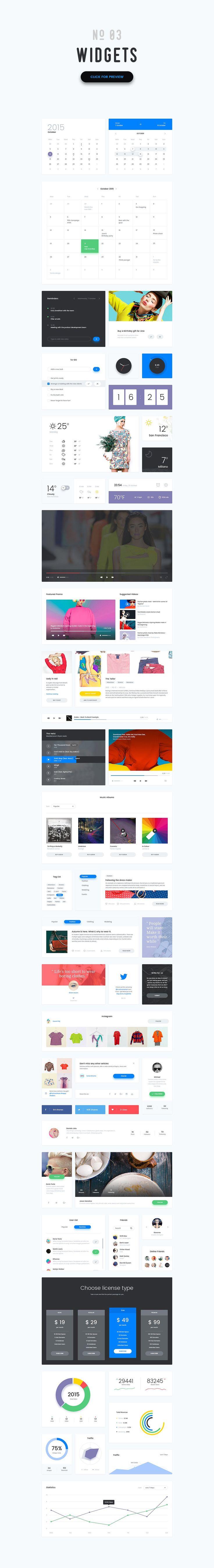 -50%- Vivid - Soft Material UI Kit - Web Elements - 6