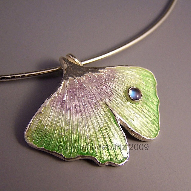 Ginko leaf pendant