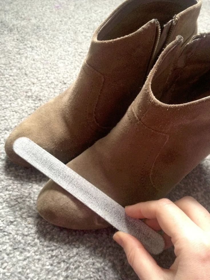 Clean stubborn dirt off suede shoes with a nail file. If you are a lover of leather shoes, make sure you check out #15.