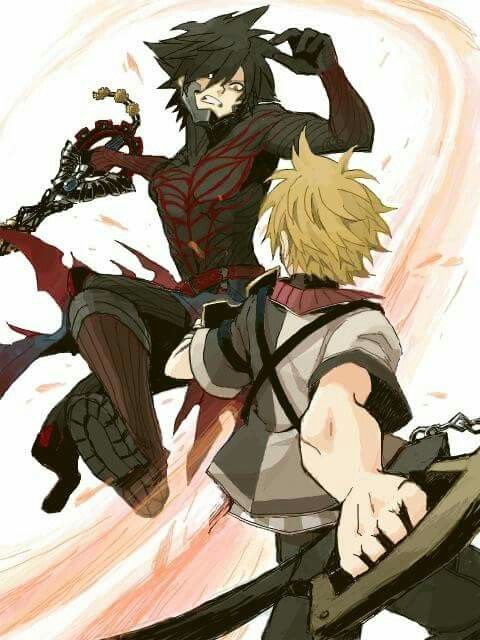 Vanitas vs ventus // Such a huge chunk of Ven's heart was dark.. He's not going to come back as the happy beacon of light we all came to know in BBS...