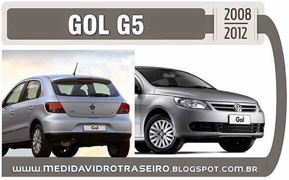 Medida Vidro Traseiro: GOL G5 - Medida Vidro Traseiro (Adesivo Perfurado)...