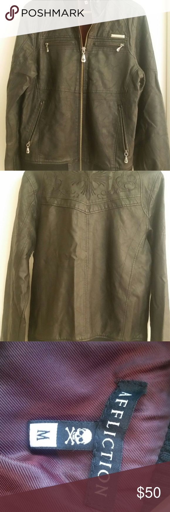 AFFLICTION Medium Jacket Super nice black jacket It's a