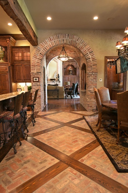 Best 25 brick arch ideas on pinterest brick archway for Mediterranean flooring ideas