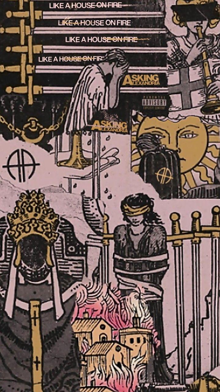 Aa 06 Like A House On Fire Wallpaper Seni Wallpaper Ponsel