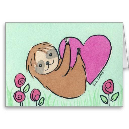 sloth valentine card tumblr