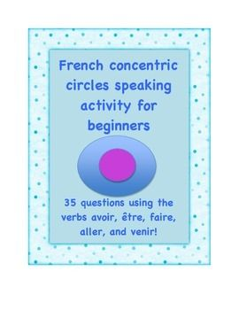 Need a way to practice avoir, être, faire, aller, and venir with your French 1 and 2 kids? Kids love this, because they get to get up and move! This set of 35 questions is perfect for practicing all verbs together in a French 1 or French 2 class.