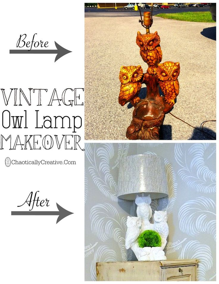 Vintage Owl Lamp - Chaotically Creative