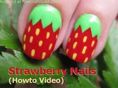Strawberry fingernails ...