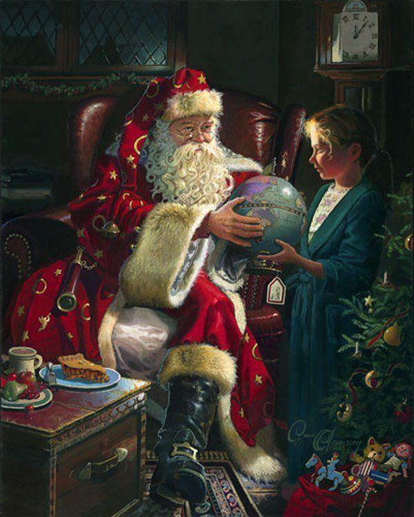 Dean Morrissey Santa, St. Nick, Father Christmas