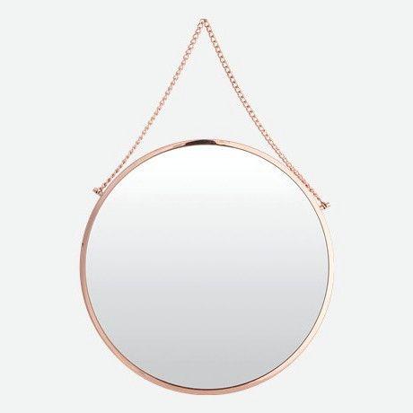 LET LIV - Bolina Round Copper Mirror