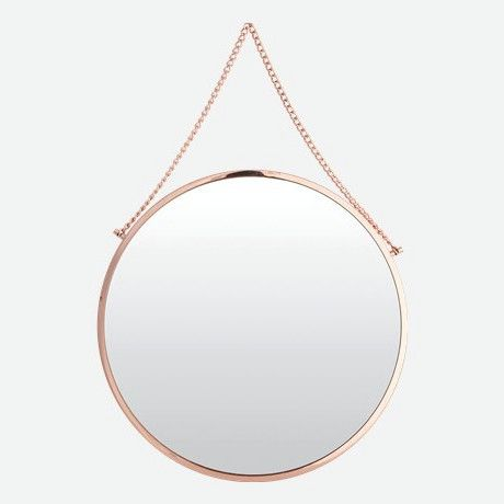 Bolina Round Copper Mirror | Available at www.LETLIV.co.nz