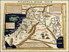 Sebastian Munster: Tabula Asiae IIII [Cyprus, Holy Land, Syria & Middle East]