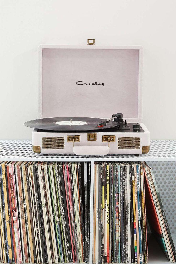 Shop: Crosley Cruiser Ice Velvet Vinyl Record Player