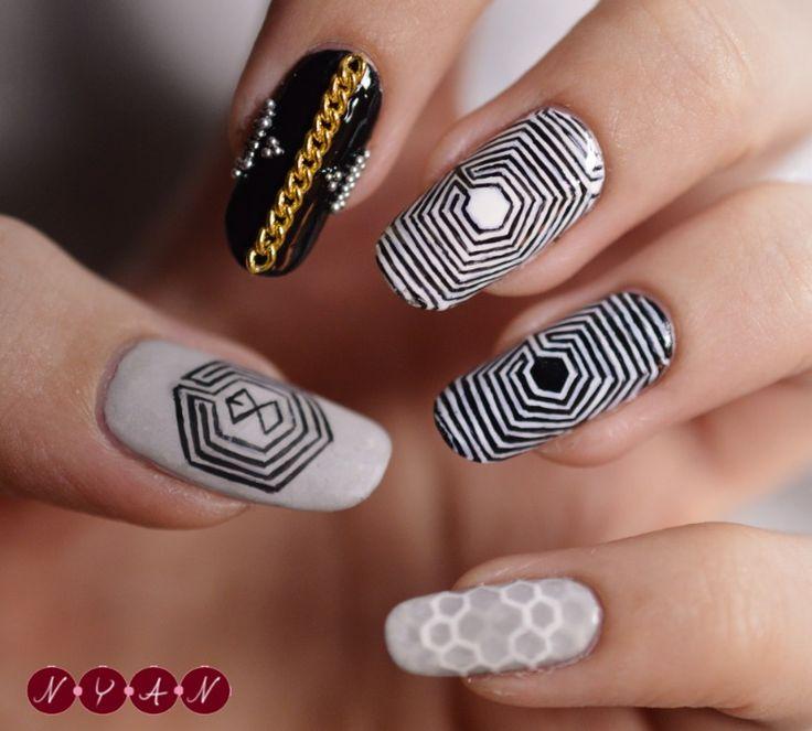 25 best images about kpop nail art on pinterest nail art - Como pintarse las unas ...