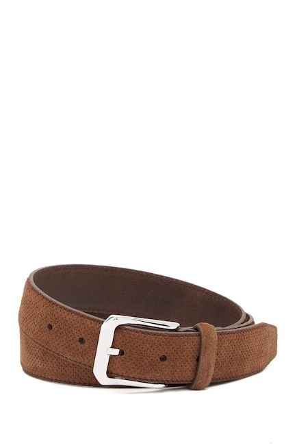 MICHAEL BASTIAN Perforated Italian Suede Belt #mens-fashion #men-accessories#belts #menswear